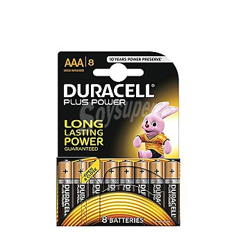 Duracell Pilas Alcalinas Uso Frecuente Lr03 (aaa) Plus Pack de 8