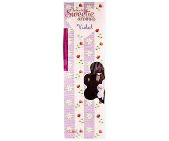 AMBIENT AIR Ambientador Mikado con varillas difusoras y aroma a Violeta, intensidad alta, modelo Sweetie aromas 1 unidad