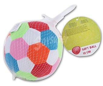 Productos Económicos Alcampo Balón de peluche blandito de colores 1 unidad