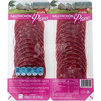 Aliada Salchichón de pavo pack 2x75 g envase 150 g Pack 2x75 g