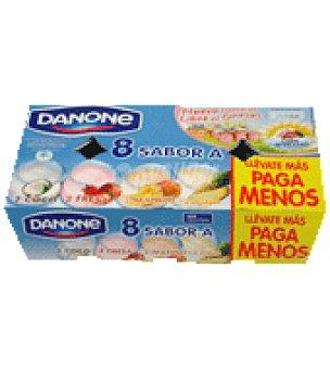 Danone Yogur sabores fresa/coco/mango/piña 8 unidades Pack de 8x125 g