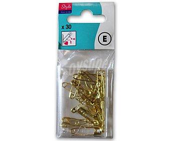 STYLE Pack de 30 imperdibles de latón dorado 1 Unidad