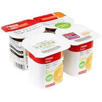 Eroski Basic Yogur de limón Pack 4x125 g