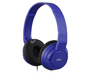 Jvc Auricular cerrado tipo casco, con cable, color azul HA-S180-A-E