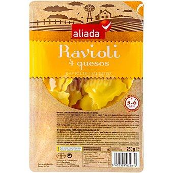 Aliada Raviolis frescos rellenos de 4 quesos Envase 250 g