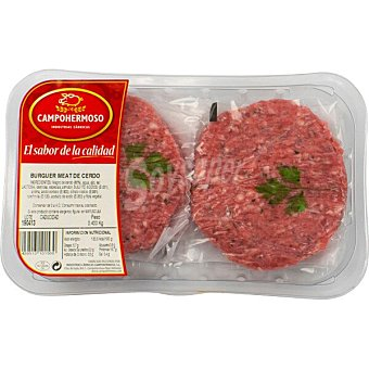 Campohermoso Hamburguesas de cerdo bandeja 400 G Bandeja 400 g
