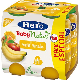 Hero Baby Tarritos de frutas variadas Natur 4x235g