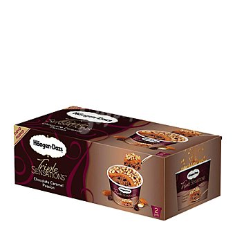 Häagen-Dazs Helado triple sensations chocolate caramelo tarrina 2 ud