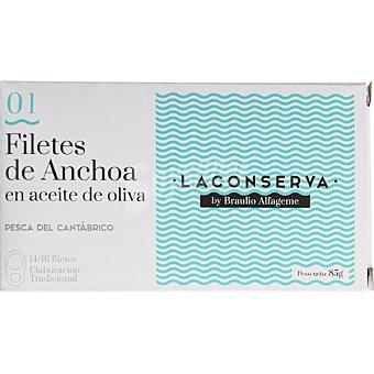 LA CONSERVA By Braulio Alfageme anchoas del Cantábrico en aceite de oliva 14-16 piezas lata 90 g lata 90 g