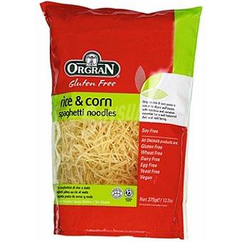 ORGRAN Free From Rice & Corn Pasta espagueti noodles sin gluten Envase 375 g