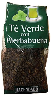 HACENDADO Infusión té verde con hierbabuena PAQUETE 100 g