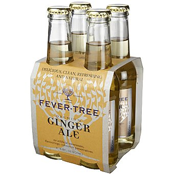 Fever Tree Ginger Ale tónica 4 botellas de 20 cl