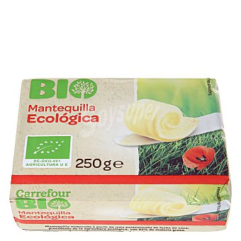 Carrefour Bio Mantequilla sin sal ecológica 250 gramos