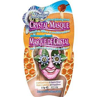 MONTAGNE JEUNESSE Mascarilla facial de cristal exfoliante con miel cristalizada y flor de la pasión envase 15 g elimina impurezas Envase 15 g