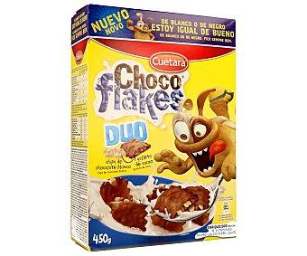 Cuétara Galletas de cacao y chips de chocolate blanco Choco Flakes Dúo, 450 gramos