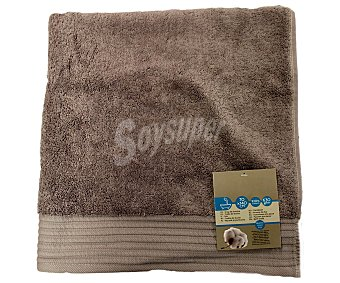 AUCHAN Toalla de ducha lisa color marrón de algodón egipcio, 630 gramos/m², 70x140 centímetros 1 Unidad