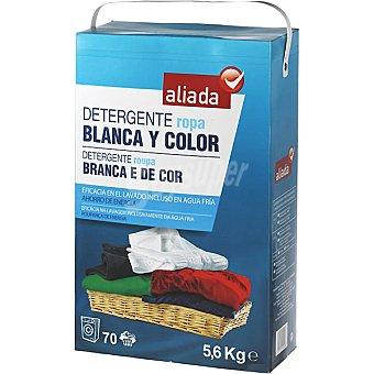 Aliada Detergente máquina polvo para ropa blanca y de color Maleta 70 cacitos