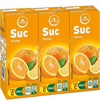 Condis Zumo naranja Pack 3 uni