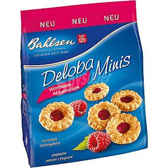 BAHLSEN Deloba Minis galletas de hojaldre con mermelada frambuesa Bolsa 150 g