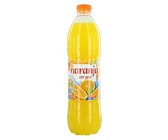 Auchan Refresco de naranja sin gas (bebida refrescante de zumo de frutas con azúcares y edulcorantes) Botella de 1,5 litros