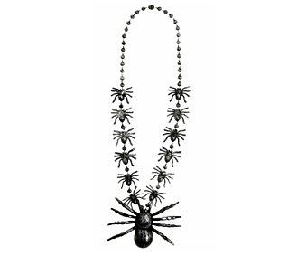 WIDMANN Collar de arañas complemento para disfraz de Halloween, 40 centímetros Collar arañas 40cm