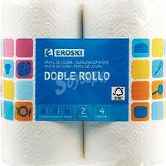 Eroski Papel de cocina compacto 8 rollos
