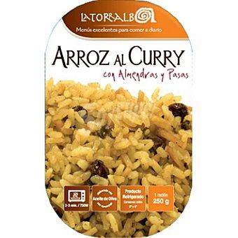 La Torralba Arroz al curry con almendras y pasas refrigerado Envase 250 g