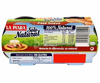 La Piara Paté Suave Solo Natural 2 unidades de 75 g