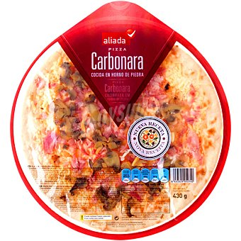 Aliada Pizza carbonara Envase 430 g