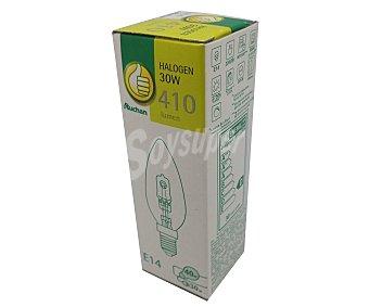 PRODUCTO ECONÓMICO ALCAMPO Bombilla ecohalógena vela 30W, E14, Luz cálida 1 Unidad