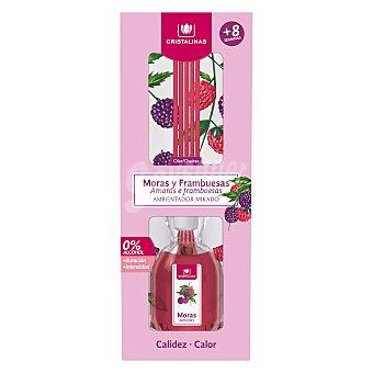 Cristalinas Ambientador de varillas con aroma a moras y frambuesas (calidez) 40 ml