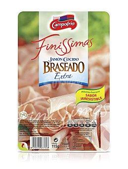 Finissimas Campofrío Jamón cocido braseado en lonchas Envase 115 g