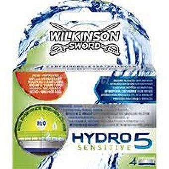 Wilkinson Cargador de afeitar Hydro 5 Sensitive Pack 4 unid