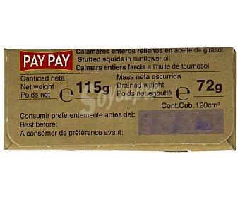 PAY PAY Chipirones enteros rellenos en aceite de girasol 72 g