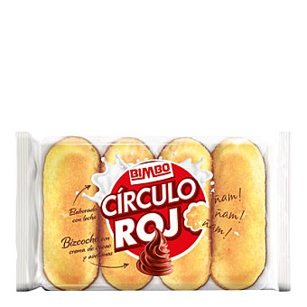 Bimbo-Círculo Rojo Pastel Círculo Rojo relleno crema de cacao y avellanas Pack de 4x38 g