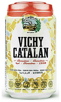 VICHY CATALAN Agua mineral natural con gas lata 33 cl