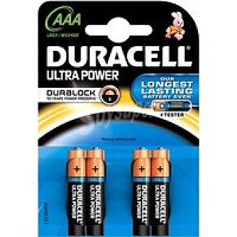AAA LR03 K4 duracell Pila alcalina Ultra Power Pack 4 unid