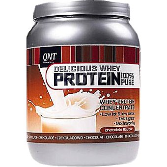 QNT Delicious Whey Protein 100% Pure sabor chocolate  bote 350 g