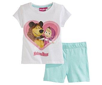 Masha y el Oso Pijama corto de niña talla 3.