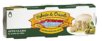 Palacio de Oriente Atún claro en aceite oliva 3 unidades de 52 g