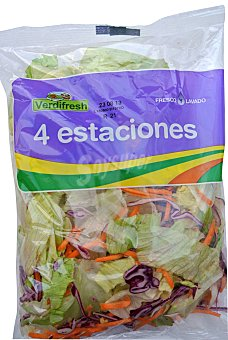VARIOS Ensalada 4 estaciones (lechuga iceberg, zanahoria, COL lombarda) Bolsa 250 g