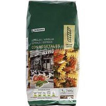 Eroski Espirales con vegetales Paquete 500 g