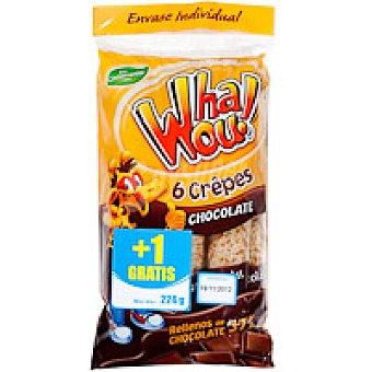Whaou Crepes relleno de choco Paquete 6+1 unid