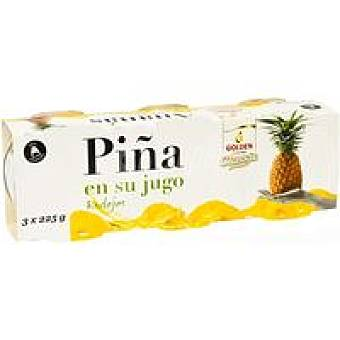 Golden Quality Foods Piña en su jugo Pack 3x140 g