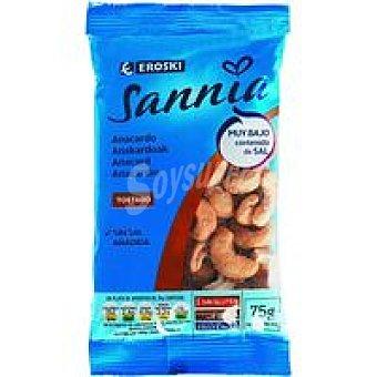 Eroski Sannia Anacardos tostados sin sal Bolsa 75 g