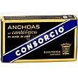 Serie Oro filetes de anchoa del Cantábrico en aceite de oliva  lata 53 g neto escurrido Consorcio