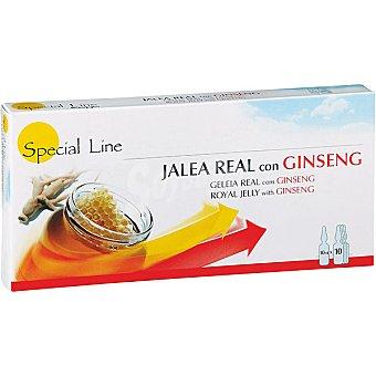 Special Line Jalea real con ginseng estuche 10 ampollas
