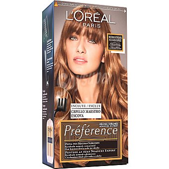 Preference L'Oréal Paris Mechas sublimes para cabello castaño claro caja 1 unidad incluye cepillo maestro escoba Caja 1 unidad