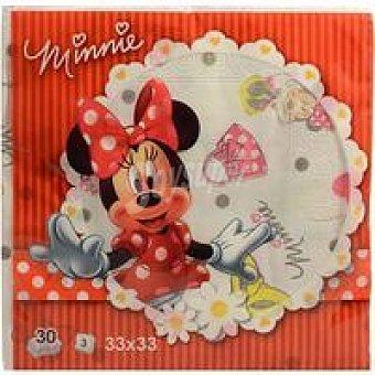 AVANCE Servilletas Minnie 3 capas 33x33 Paquete 30 unid