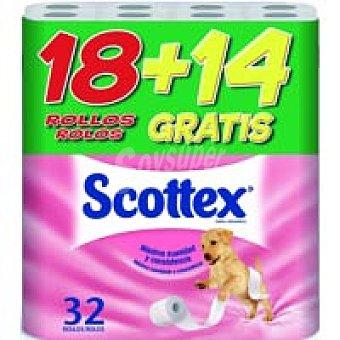 Scottex Papel higiénico 2 capas 18+14 rollos